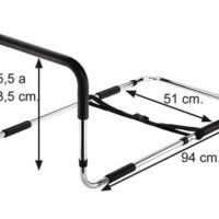 Handhold bed rail