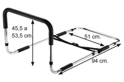 Handhold bed rail