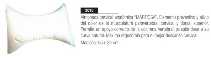 Almohada Cervical Mariposa ORTOHISPANIA