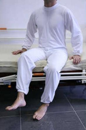Pijama Largo con Cremallera en Espalda