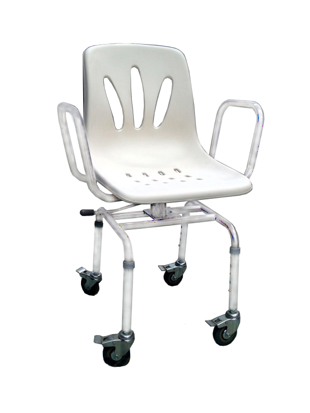 Shower Chair with Swivel Seat and Wheels - Ortohispania