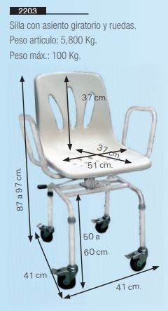 Shower Chair with Swivel Seat