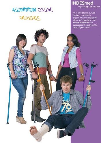 colour forearm crutch