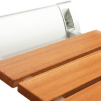 folding wooden shower seat