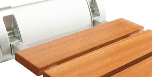 folding wooden shower seat
