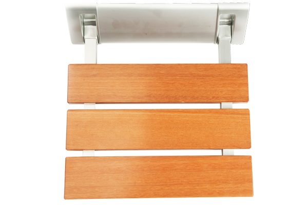 folding wooden shower seat 2
