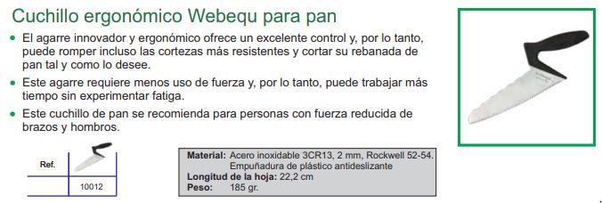 Cuchillo Ergonómico webequ