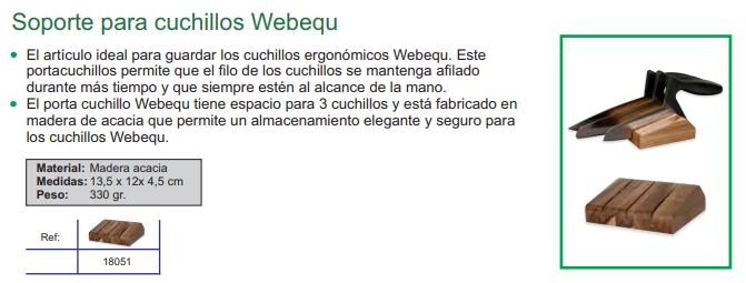 soporte para cuchillos webequ