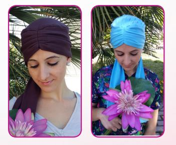 Scarf For Cancer Patients DRAPED DAHLIA