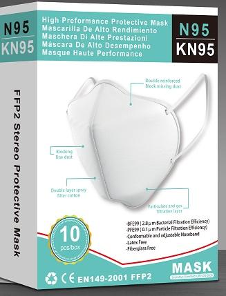 Embalaje Mascarilla De Protección KN95-FFP2